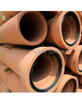 375mm X 2.00M VCP STRAIGHT PIPE C/W RING [JPC]